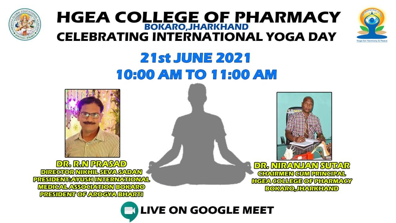 Yoga Day celebration 2021